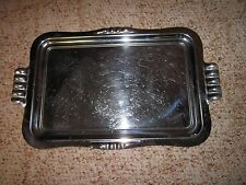 """Vintage 16"""" X 10 1/2"""" Rectangular Silver Plated Serving Tray (Platters & Trays)"""