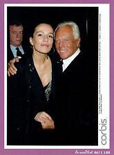 PHOTO de PRESSE , 2006 : GIORGIO ARMANI STYLISTE & ZOÉ FELIX ACTRICE -I188