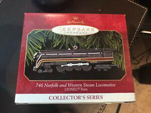 Hallmark 1999 Keepsake Lionel 746 Norfolk and Western Steam Locomotive Ornament