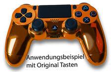 Neu Playstation PS4 Controller Case Hülle Gehäuse Chrome Modding Cover Orange