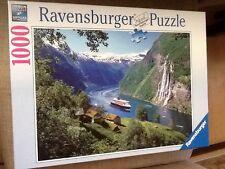 Ravensburger NORWEGIAN FJORD 1000-pc Jigsaw Puzzle Landscape Travel