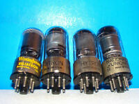 12SK7GT AA5 radio audio electron amplifier vacuum tubes 4 valves tested 12SK7