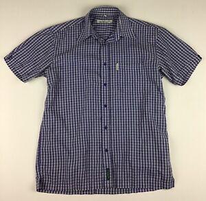 Ben Sherman Short Sleeve Button Shirt Men's Medium Plaid