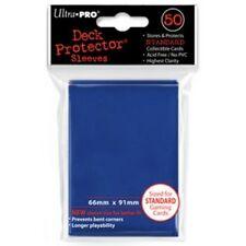 50 DECK PROTECTORS Blue Blu MTG MAGIC Ultra Pro