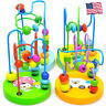 Wooden Educational Circle Bead Maze Cube Roller Coaster Toy for Babies Toddlers