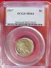 1917 Buffalo Nickel PCGS MS 64 Cert# 20225435