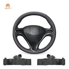 DIY Black PU Leather Steering Wheel Cover Wrap for Honda Civic Civic 8 2006-2011