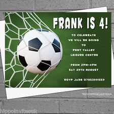 Football Party Invitations Soccer Personalised Kids Birthday x 12+envs H0515