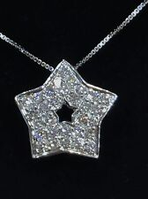 String and Pendant pattern star gold 18k and diamonds