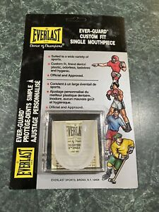 Vintage EVERLAST Adult Mouth Piece Guard Custom Fit - Mint On UNPUNCHED Card NEW