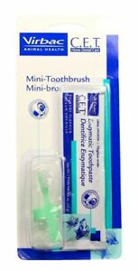 C.E.T. Pet Mini-Toothbrush & Poultry Enzymatic Toothpaste Combo Cat & Dog Dental