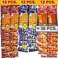 36 X 5g. BENTO Squid Seafood Snack 3 MIX FLAVORS THAI FOOD Chili Spicy Low Fat