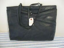 NEW SARNE Genuine Leather PURSE, Black, Straps, 17x12, Compartments