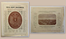 Werbeblatt Friedrich Krupp Grusonwerk Magdeburg Giesserei 1893 Medaillen xz