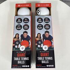 Giant Ping Pong Balls Table Tennis Set Of 2 Packs