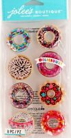 Donuts Delicious Snow Globes Shakers ADORABLE NEW RELEASE Jolee's 3D Stickers