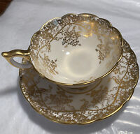 "ROYAL STAFFORD ""GRAPEVINES"" TEACUP AND SAUCER"