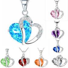 New Fashion Women Silver Chain Crystal Rhinestone Pendant Necklace Jewelry Gift