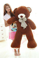 39''  Giant Big Teddy Bear Pillow Stuffed Animal Brown Plush Soft Toys Doll Gift