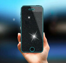 Diamond bling grille verre trempé film de protection écran pour iPhone SE 5 5S 5C