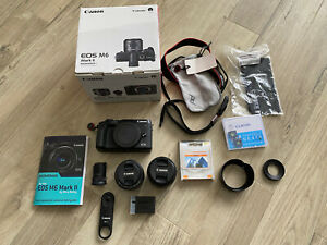 Canon EOS M6 Mark II 32.5MP Camera Kit (With Two Lenses, Viewfinder & More)