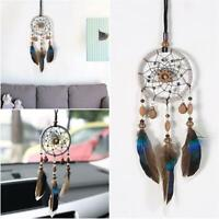 Large Dream Catcher Boho Gold Feather Flowers Wall Home Hanging Ornament DIY
