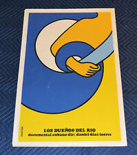 1984 Cuban Original Silkscreen movie Poster.The Owners of d River.Dueño del rio.