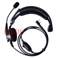 walkie talkie single side headphone with mic VOX function tactical headset 2-pin