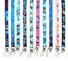10pcs cartoon anime stitch Lanyard For Bus subway ID Card KeyChain Holder gif