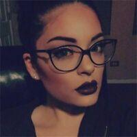 Women's Spectacle Frame Small Cat's Eye Glasses Clear Lens Myopia Nerd Eyewear