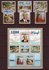 LEBANON STAMPS- LIBAN MNH SC# 502-507 + 508 S/S - 50th. ANNIV.OF INDEPENDENCE