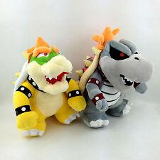 "2X Super Mario Bros King Koopa Dry Bowser Bones Soft Plush Toy Stuffed Animal 9"""