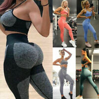 Women High Waisted Yoga Pants Seamless Fitness Leggings Sports Stretch Workout
