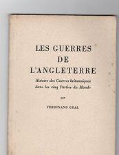 Les guerres de l'Angleterre. Propagande allemande 1941. par F. GRAL