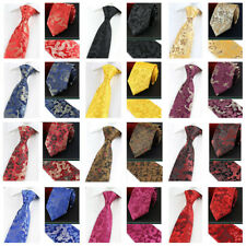 Men High Grade Necktie Chinese Style Floral Dragon Pattern Party Wide 9CM Tie