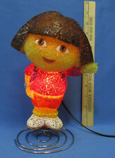 Dora The Explorer Night Light Lite Table Lamp Plastic Metal Spring Bottom Base