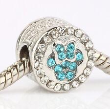 European Silver CZ Charm Beads Fit sterling 925 Necklace Bracelet Chain B#649