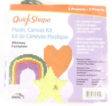 Quick Shape WHIMSY Plastic Canvas Kit 3 Projects NIP New Heart Rainbow Star