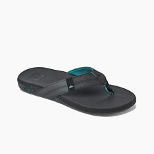 Reef Men's Cushion Phantom Flip Flops - Black/Green NWT