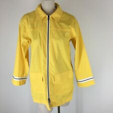Spanner sport woman's yellow rain jacket zip size small