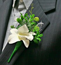 White Orchid Boutonniere, Wedding Accessories, Prom