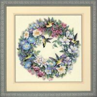 Counted Cross Stitch Kit DIMENSIONS GOLD COLLECTION - Hummingbird Wreath