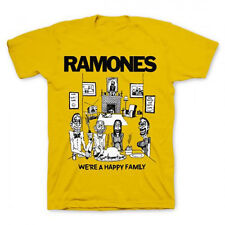 Ramones-Happy Family-Medium Yellow  T-shirt