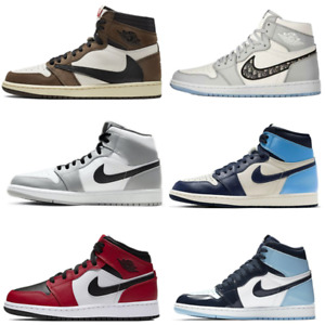 Uomo Donna Mid Air jordan1 Formatori Retro Alta OG Raso Chicago Sneakers Fashion