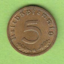 5 Reichspfennig 1936 G mit HK knappes vz seltenste Ausgabe dieses Typ nswleipzig