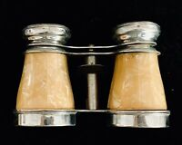 SMALL ANTIQUE FAUX MOTHER OF PEARL BINOCULARS OPERA GLASSES