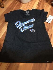 NFL '47 Tennessee Titans Women's Medium Shirt Scoop Neck Cap Sleeve Tee