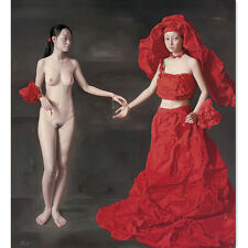 Print Canvas Human Body Art Paper bride hand Naked Oil Painting Art Decoration