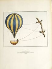 Print. Aviation. Hot Air Balloon. Luftballon durch Adler zu regieren 1801