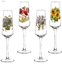 Portmeirion Botanic Garden Set of 4 Champagne Flutes NEW WITH TAGS